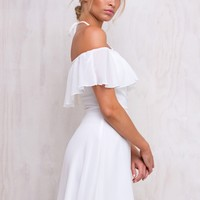 Milk Springs Off The Shoulder Dress