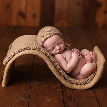 Vintage Newborn Posing Chair Photography Props,S Pattern Fotografia Chair Crochet Blanket Hat Set,Baby Photo Prop,#P0294