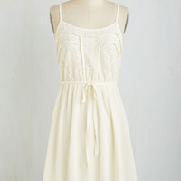 Mid-length Spaghetti Straps A Delight to Behold Dress