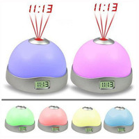 Free Shipping Starry Digital LED Projection Alarm Clock Night Light Color Changing hv3n