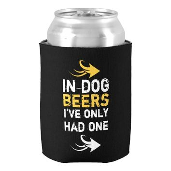 Black and yellow beer quote can cooler