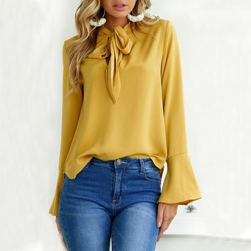 Women's Bow Sleeve Blouse