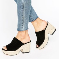 Truffle Collection Lenka Espadrille Platform Mules