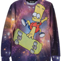 Galaxy Bart Crewneck