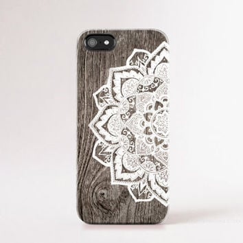 iPhone 6 Case Wood Print Mandala iPhone 6 Plus Case Wood Print iphone 5 Case  iPhone5s Case Wood Galaxy S5 Case Tough iPhone Case Boho