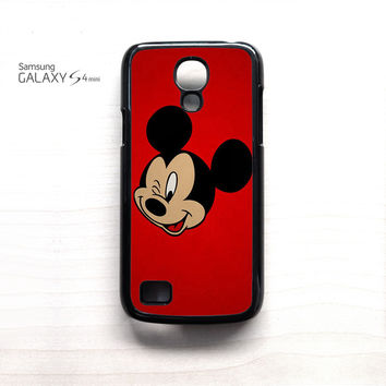 Mickey Mouse Red Background Wallpaper for Samsung Galaxy Mini S3/S4/S5 phonecases