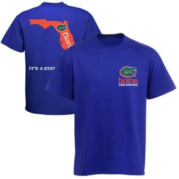 ONETOW NCAA Florida Gators New World Graphics Royal Blue Its A State Of Mind Men's T-Shirt