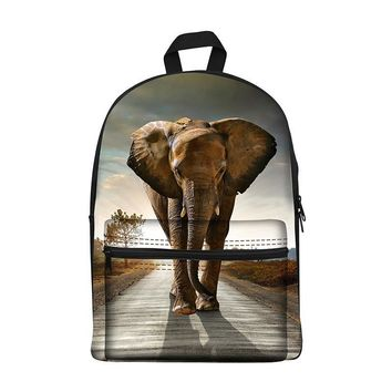 New 2017 Kawaii canvas Backpack for Girls Fashion Children School Bag Cute Animal elephant Backpack Kids School Backpack
