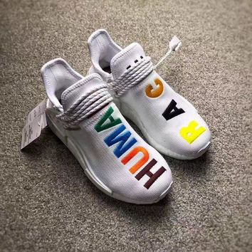 PEAPES5 Adidas NMD White Multi Color Custom Edition