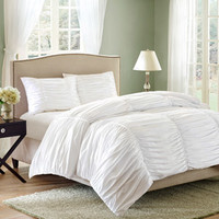 Walmart: Better Homes and Gardens Ruched 3-Piece Bedding Comforter Mini Set