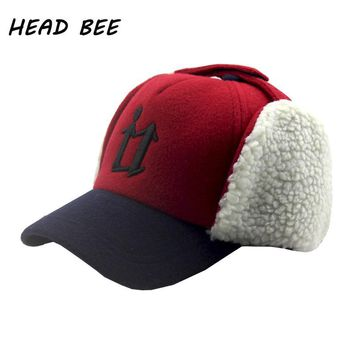 [HEAD BEE] Brand Wool Baseball Cap Warm Children Snapbacks Hat Letters Hip Hop Cap Casquette 2017 Winter Hat for Boy and Girl