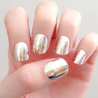 Silver & Gold Disco Ball Nail Wraps