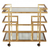 World's Away | Ireland Bar Cart-Gold