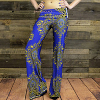 Star Child Royal Blue Print Palazzo Pants