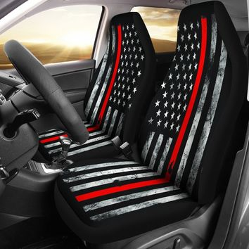 Thin Red Line Firefighter Seat Covers