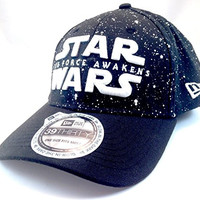 Disney Parks Exclusive New Era 39Thirty Star Wars The Force Awakens Glow In The Dark Baseball Hat Cap