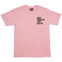 Don't grow up just glo up tee (pink)