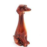 Vintage Jema Holland Long Neck Dachshund Dog Figurine, 322, 1960s, UK Seller
