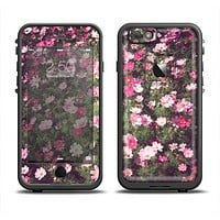 The Vintage Pink Floral Field Apple iPhone 6 LifeProof Fre Case Skin Set