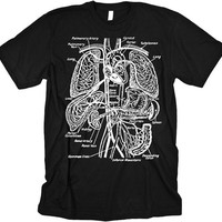 Vintage Anatomy Illustration T-Shirt