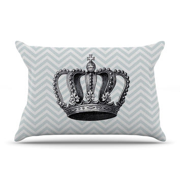 "Suzanne Carter ""Crown"" Blue Black Pillow Sham"