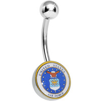 United States Air Force Belly Ring | Body Candy Body Jewelry