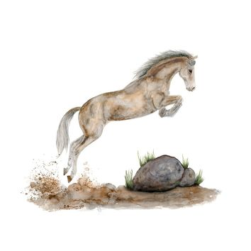 Jumping Horse Painting