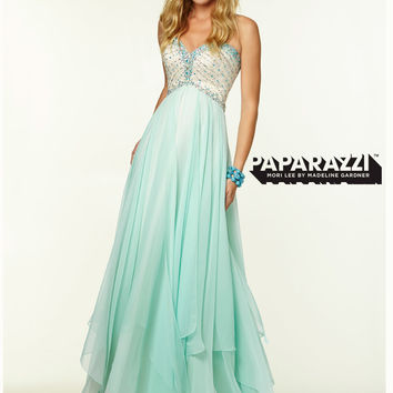 Sweetheart Beaded Flowing A-line Paparazzi Prom Dress By Mori Lee 97049