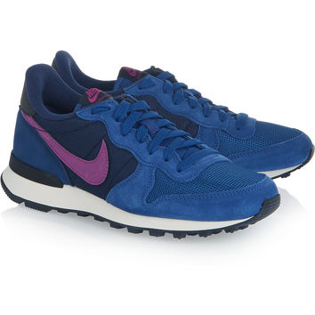 Internationalist suede, leather and mesh sneakers | Nike | UK | THE OUTNET