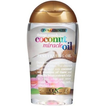 OGX Extra Strength Damage Remedy + Coconut Miracle Oil Penetrating Oil, 3.3 Oz - Walmart.com