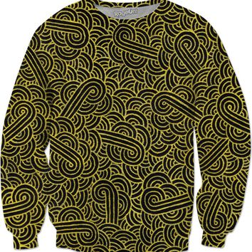 Faux gold and black swirls doodles Sweatshirt