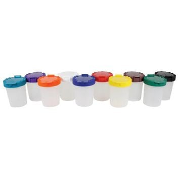 Sargent Art No-Spill Paint Cups with Color-Coded Lid