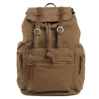 Lixmee canvas zip pockets travelling backpack
