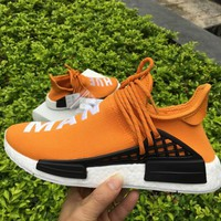 ADIDAS X PHARRELL PW HUMAN RACE NMD BB3070 BOOST ORANGE Running shoes for Women & Men Size: 36--46