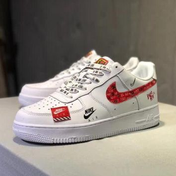 nike air force 1 x just do it unisex casual fashion letter shoelace plate shoes couple sneakers