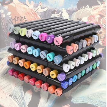 Artist Double Headed Sketch Copic Marker Set 24 36 48 60 Colors Alcohol Based Manga Art Markers for Design Supplies