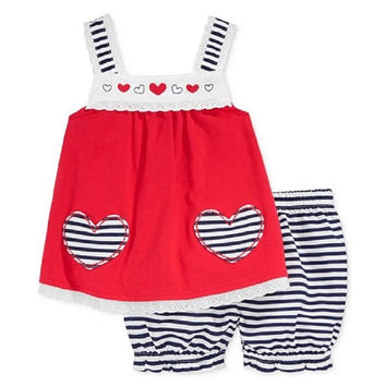 First Impressions Baby Girls' 2-Piece Eyelet Tunic & Bloomer Shorts 3-6M, 24M