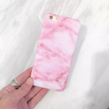 Marble Printed Pink Phone Case , Iphone Case, Worldwide Shipping