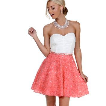 Callie- Coral Prom Dress