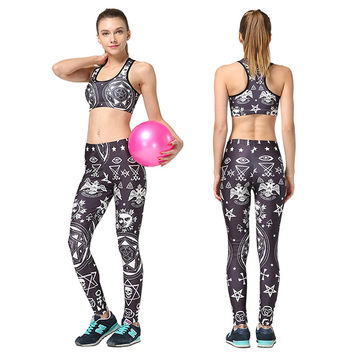 Crop Top Sports Bra Fitness Stretch Underwear Push Up Bras Ropa deportiva Women Running Leggings Fitness Yoga Joggers Pants Sets