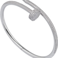 Juste un Clou bracelet: Juste un Clou bracelet, 18K white gold, set with 32 brilliant-cut diamonds totaling 0.59 carats.