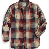 Boy's Just A Cheap Shirt Plaid Woven Shirt