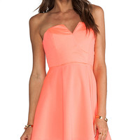 Naven Bombshell Circle Dress in Orange