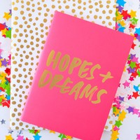 ban.do Good Ideas Notebook Set-Petite Party Dots+Hopes & Dreams