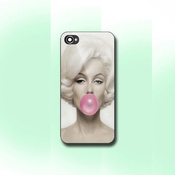 Marilyn Monroe Bubble Gum - Print on hard cover for iPhone and Samsung Galaxy case