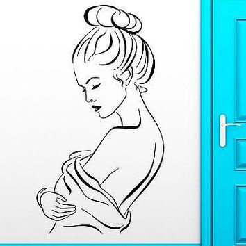 Wall Stickers Hot Sexy Naked Girl for Bathroom Vinyl Decal Unique Gift (ig2440)