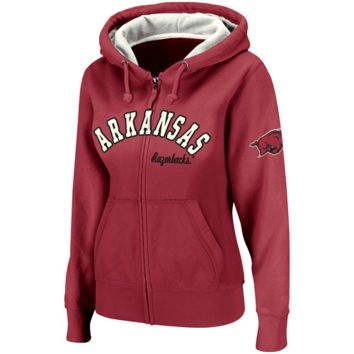 Arkansas Razorbacks Ladies Express Full Zip Hoodie Sweatshirt - Cardinal
