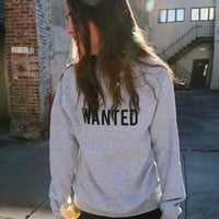 ERICA WANTED SWEATSHIRT