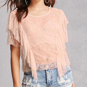 Sheer Crochet Lace Top