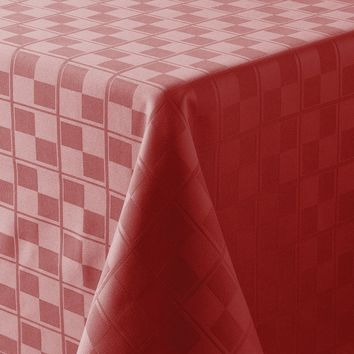 Food Network Stain-Resistant Microfiber Check Tablecloth - 60'' Round